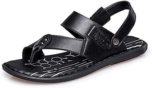 メンズサンダルメンズファッションシューズカジュアルシンプル軽量サマーバックルクリップオンスリッパ快適,黒,41