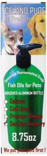 Iceland Pure Unscented Pharmaceutical Grade Sardine Anchovy Oil For Dogs And Cats.Bottle Size 8.75Oz