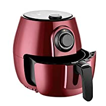 KMCMYBANG Air Fryer Air Fryer 4L Capacity Healthy Fried Food Includes Baking Set Air Circulation System (Color : Red, Size : 26x30x26cm)