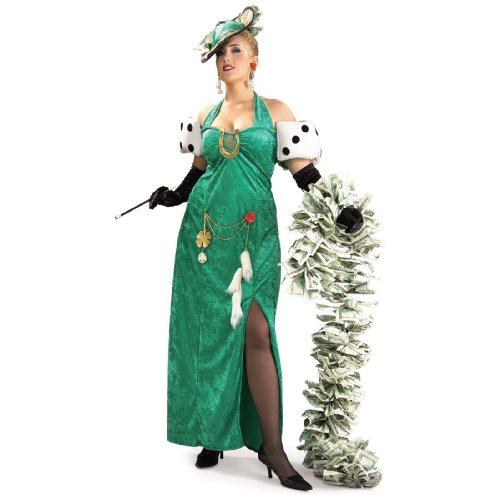 Luck Lady Costume Hat (Rubie's Costume Co. Women's Plus Size Lady Luck Costume, As Shown, One)