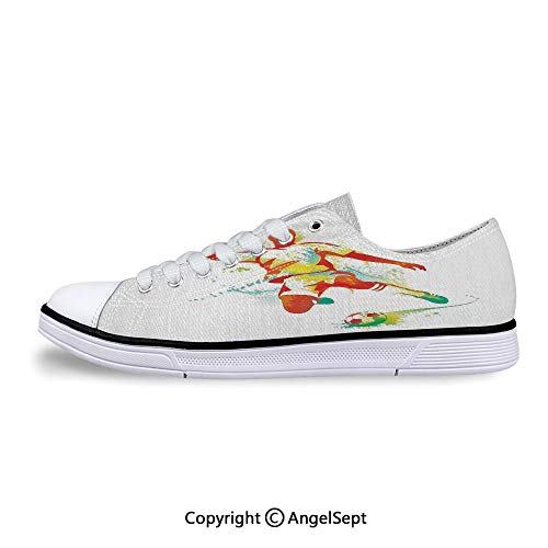Sneakers for Ladies The Ball Competitions Paint Splashes Low Top Canvas Shoes ()