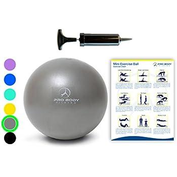 Amazon.com: Vessos - Pelota de yoga de 9.8 in para fitness y ...