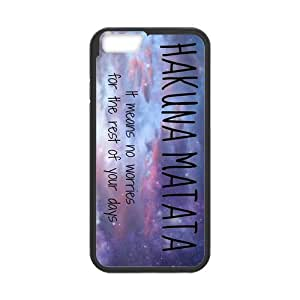 Protective PC Rubber Coated Case Cover for iPhone 6 - Hakuna Matata