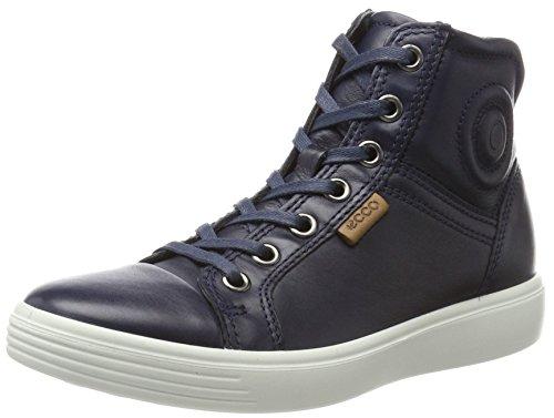 Ecco Jungen S7 Teen Hohe Sneaker Blau (True Navy/Whisky)