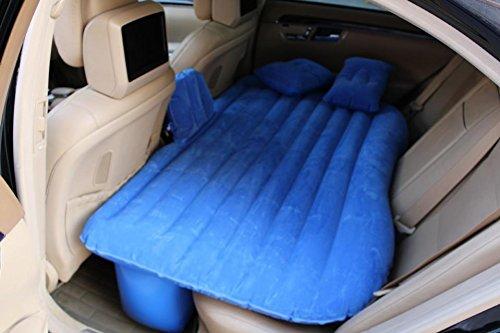 DHG Auto Aufblasbare Matratzen im Bett Auto Schock Matratzen Auto Reise Bett Auto Matratzen im Freien Hintere Reihe,Blau