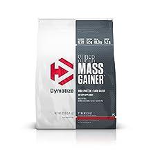 Dymatize Super Mass Gainer, Strawberry, 12 LBS