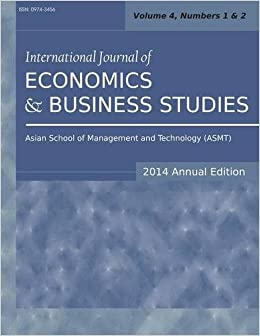 International Journal of Economics and Business Studies (2014 Annual Edition): Vol.4, Nos.1-2