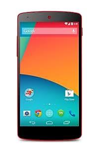 "LG Google Nexus 5 - Smartphone libre Android (pantalla 4.95"", cámara 8 Mp, 16 GB, Quad-Core 2.3 GHz, 2 GB RAM), rojo [versión europea]"