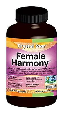 Crystal Star Female Harmony Herbal Supplements, 90 Vegetarian Capsules
