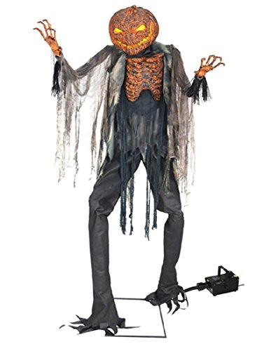 Seasonal Visions Animated Scorched Scarecrow With Fog Machine