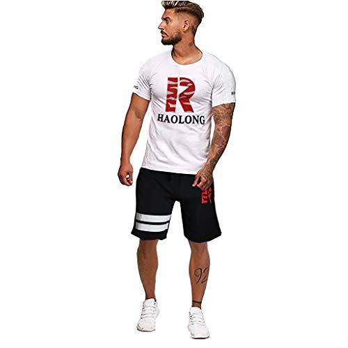 NIUQI Fashion Men's Summer Printed Short Sleeve Top