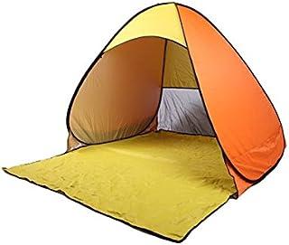 Pop up tente, extérieur ultra-léger pliant automatique tente ouverte cabane pour bébé tentes abri soleil pour les activités familiales touriste/jardin/Camping/pêche/Beach Times anti-UV wigwam