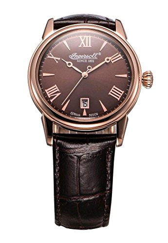 Ingersoll Men's Grafton INQ001BRRS Brown Leather Analog Quartz Watch