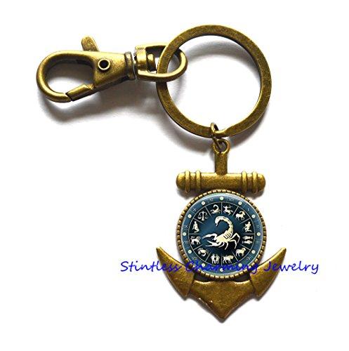 Scorpio Anchor Keychain Scorpion Anchor Keychain Jewelry, Scorpio Jewelry, Scorpion Charm Anchor Keychain,boyfriend jewelry,Anchor Keychain men,gift idea,astrology gift ()