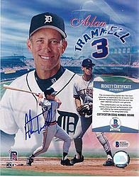 Wholesale Lots Alan Trammell Autographed Signed 8x10 Photo Picture Baseball Tigers Beckett Coa