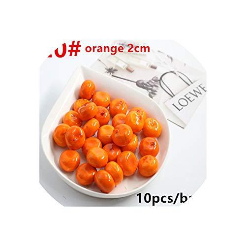 (10 Pcs/Lot Simulation Model of Mini Fruit Decorative Vegetables Artificial Fruit Compote Simulation Orange About 2.5 cm)