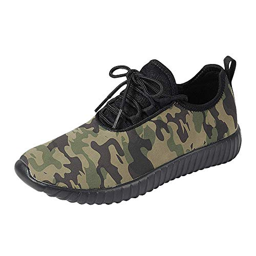 Z.Emma Women's Lace Up Lightweight Athletic Walking Casual Shoes Low Top Breathable Fashion Sneakers RY19 Camouflage ()