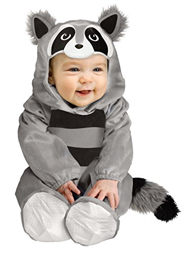 Fun World Baby Raccoon Toddler Costume, Large 12-24 Months, Multicolor