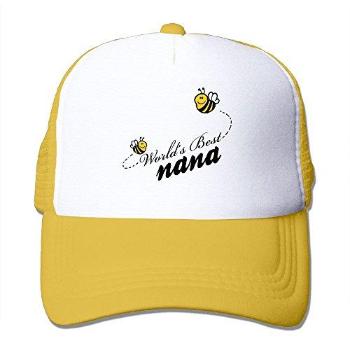 World's Best Nana Unisex Mesh Hat Baseball Caps Cool Grid Hat Adjustable Trucker - Nana Trucker Hat