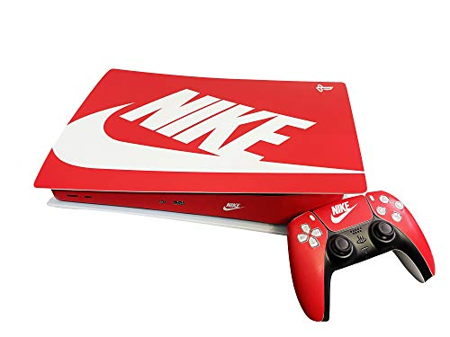 PS5 Console and Controller Skin Vinyl Sticker Decal Cover for PlayStation 5 Console and Controllers, Disk Edition -Shoebox