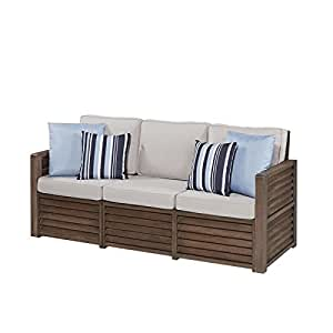 Tres asiento sofá con acento almohadas