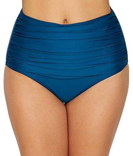 Prima Donna Cocktail High Waist Full Bikini Brief Swim Bottom (4000156) M/Booboo Blue ()