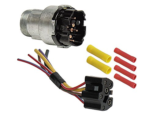 Ford Ignition Wiring (1968-69 Galaxie Ignition Switch with Wiring Harness Fairlane Mustang 70 F100 Maverick Ford (EBSW1054KT))