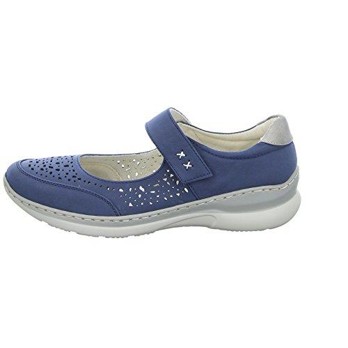 Blau Slipper Damen Blau Oder 16A5008 Halbschuh Geflochten Gelocht 30 Alyssa N nHOpOa