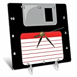 3dRose dc_57457_1 Retro 90s computer black floppy disk graphic design with red label-1990s-nineties computer tech-Desk Clock, 6 by 6″ Review