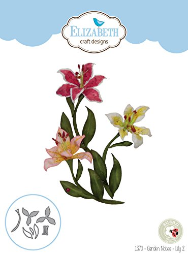 Elizabeth Craft Designs 1370 Metal Die Garden Notes Lily 2 by Elizabeth Craft Designs