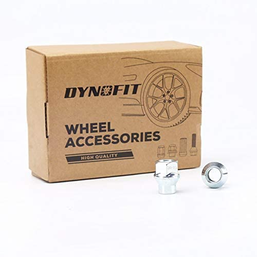 28mm Tall 19mm hex Open End with Conical//Cone Seat Special Extra Safe Lugnuts for Spacers//Adapter or 5 Lugs Aftermarket Wheels Only dynofit 1//2-20 ET 7mm Shank Lug Nuts Extended 20pc 1//2 20