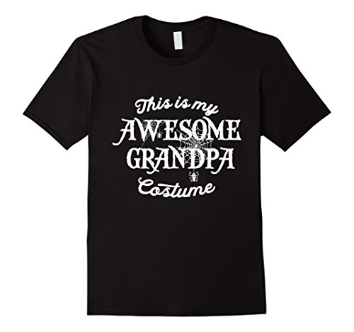 Awesome Double Halloween Costumes (Mens This Is My Awesome Grandpa Costume Funny Halloween T Shirt Large Black)