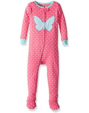 Little Girls' 1 Piece Snug Fit Cotton Pajamas