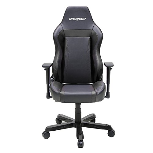DXRacer OH/WZ06/N Wide Series Black Gaming Chair - Includes 2 free cushions and on frame