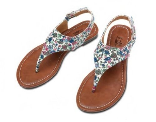 36c8713f96605b Kali Footwear Women s Floral Animal Print T-Strap Flats Sandals Summer Shoes-Edit  (10