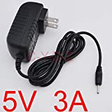 Muccus 100PCS 5V 3A Power Adapter DC 2.5x0.7mm US for Quad Core Tablet PC Sanei N10 Ampe A10 Ainol Hero II Spark Firewire