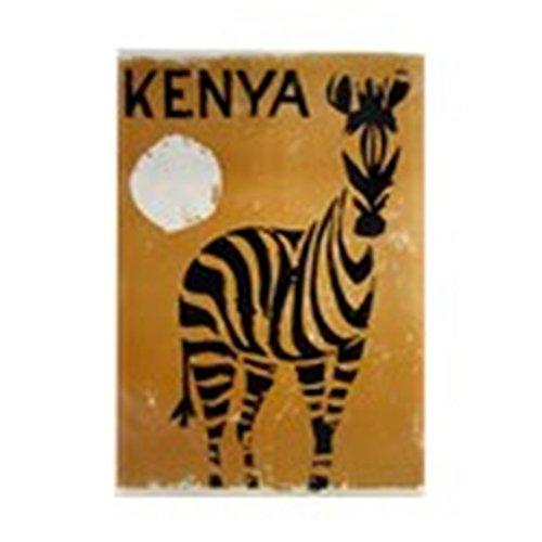 Kenya Zebra (CafePress - Kenya, Zebra, Vintage Poster - Rectangle Magnet, 2