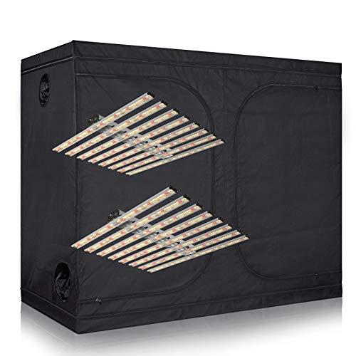 cdmall Grow Tent Kit New Tech Full Spectrum LED Grow Light 800W + 120″x60″x78″ 600D Grow Tent Combo Kits Indoor Hydroponics System