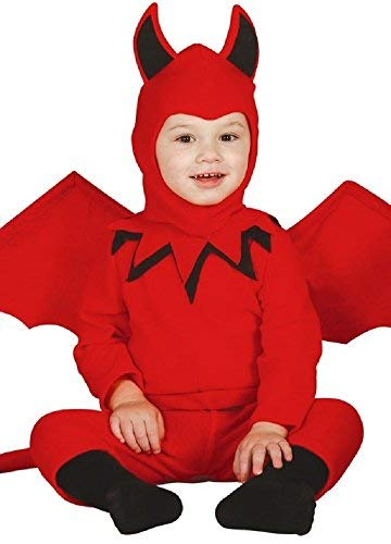 Baby Girls Boys Red Halloween Devil & Wings Fancy Dress Costume Outfit 6-12 12-24 Months (6-12 Months) -