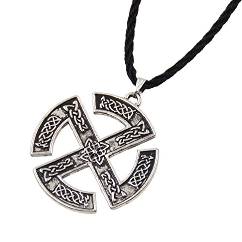 Lychee Necklace Sun Wheel Pendant Shape Talisman Retor Necklace 1x (Pendant Sun Wheel)
