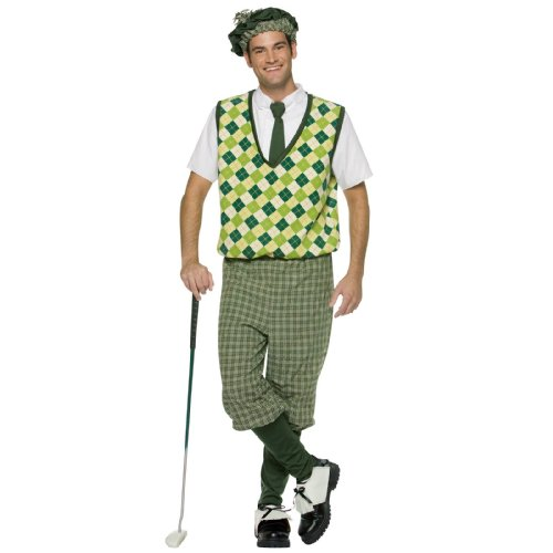 Golf Channel Halloween Costumes (Rasta Imposta Mens Old Tyme Golfer, Green,)