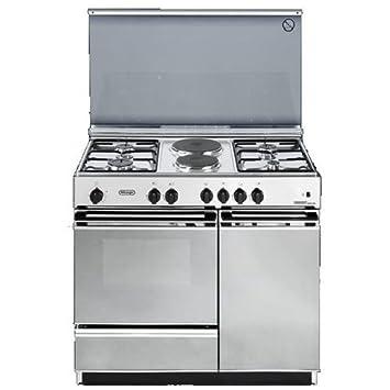 de longhi cucina a gas 4 fuochi 2 piastre forno elettrico grill ... - Cucina 4 Fuochi Forno Elettrico