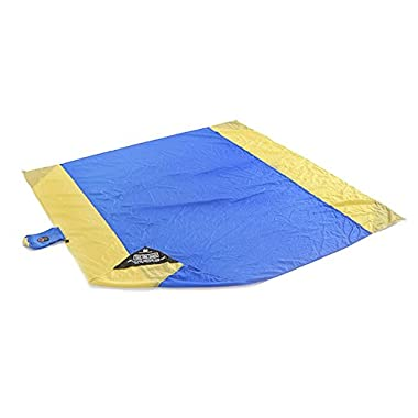 Grand Trunk Parasheet Beach / Picnic Blanket,Light Blue/Yellow