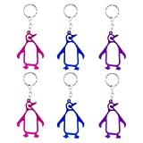 Swatom Penguin Keychain Bottle Opener Beer Opener Tool, Key Tag Chain Ring, 100 Piece For Sale
