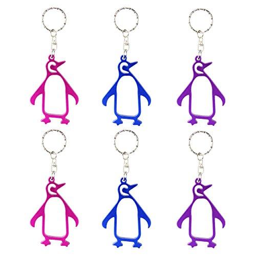 Swatom Penguin Keychain Bottle Opener Beer Opener Tool, Key Tag Chain Ring, 100 Piece For Sale