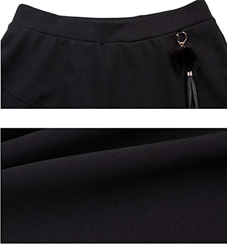 Jupe FS9891 Club Taille Coton Mini DISSA Ajoure Noir Grande BA1Cw5qx
