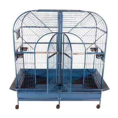 Dome Top Style Double Macaw Bird Cage Color: Platinum (Lock Cage Breeder Double)