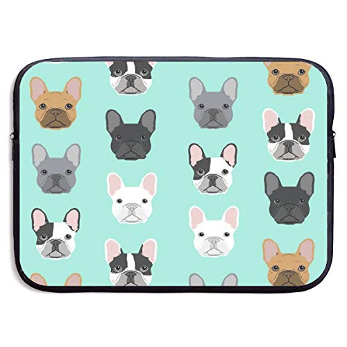 LiaanQianga French Bulldog Sweet Dog Puppy Puppies Dog 13-15 Inch Laptop Sleeve Bag - Tablet Clutch Carrying Case,Water Resistant, Black ()