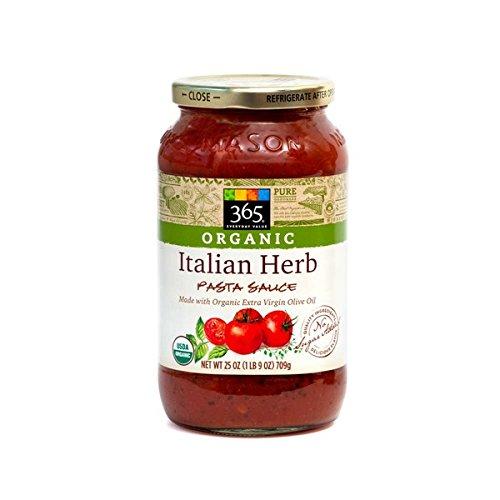 365 Organic Italian Herb Pasta Sauce 25 oz