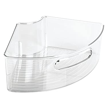InterDesign Lazy Susan Kitchen Cabinet Organizer Bin - 1/4, Clear